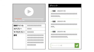 動画サイト Webシステム チャット