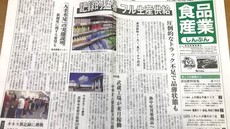 Web制作事例 食品産業新聞社 キュレーション配信